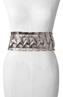 Nicole Miller Ruched Stretch Belt