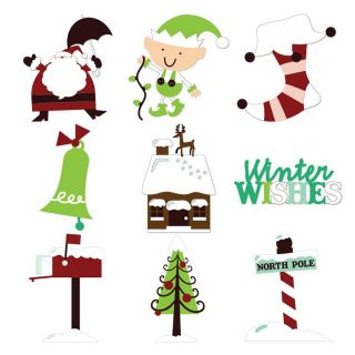 Cricut Jolly Holidays Cartridge RARE Scrapbooking Santa Christmas Tree