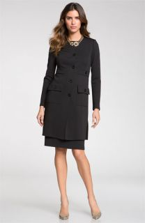 St. John Collection Jewel Neck Milano Knit Topper