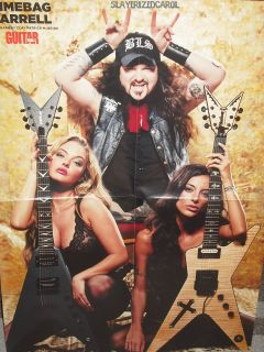 DIMEBAG DARRELL/ ROB ZOMBIE DOUBLE SIDED POSTER Guitar World