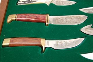 North American Hunting Club Hunting Heritage Collection 8 Piece Knife