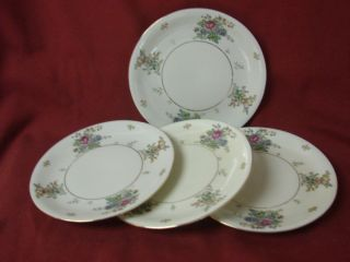 Royal Epiag Czechoslovakia China Dinnerware Greta Set 4 Bread Plate
