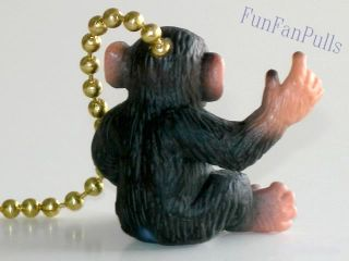 Monkey Chimp Jungle Safari Ceiling Home Decor Fan Light Pull Chain
