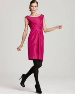Kate Spade New Deanna Pink Silk Pleated Back Zip A Line Cocktail Dress