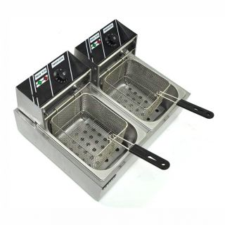 features dual tank commercial grade deep fryer heavy duty stainless