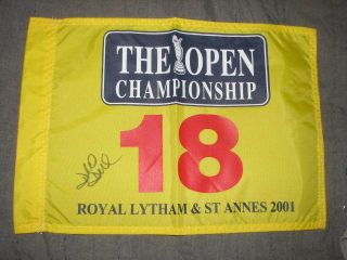 David Duval Signed Autographed Auto The Open Championship 2001 Winner
