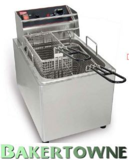 Cecilware EL15 Electric Deep Fryer Countertop 2 Basket