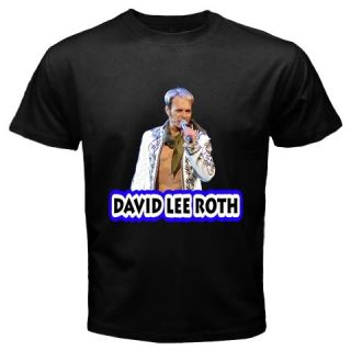 David Lee Roth Van Halen Rock Band Black T Shirt Tee