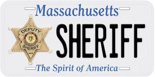 Deputy Sheriff Massachusetts Novelty Car License Plate