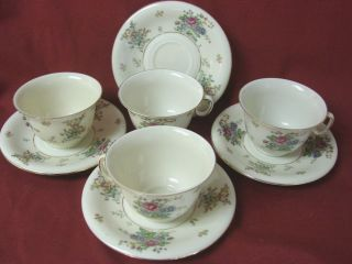 Royal Epiag Czechoslovakia China Dinnerware Greta Set 4 Cup and Saucer
