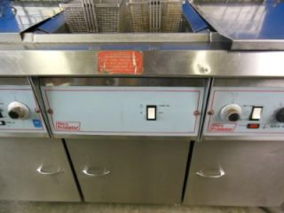 PITCO FRIALATOR DUAL DEEP FRYER FAT FRIER W/ PUMP FILTER / SERVICE BAY