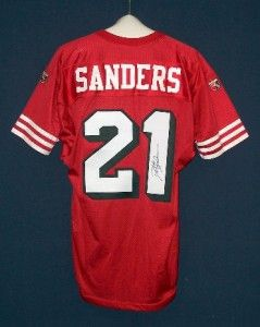 Deion Sanders Signed San Francisco 49ers 1994 Wilson Jersey