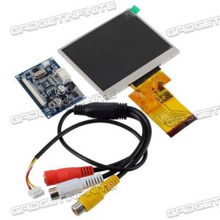 inch TFT LCD Car Rear View Digital Monitor DVD VCR 2CHs Video Gadgets