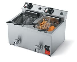 Vollrath 40710 Double 15 lb Commercial Deep Fryer