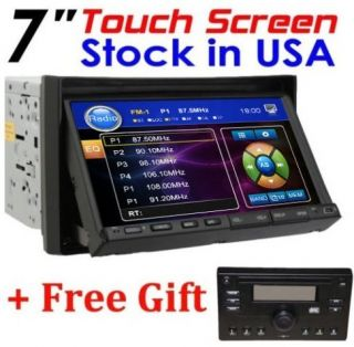 Double DIN Car Stereo DVD Player Free Detachable Panel RDS Radio