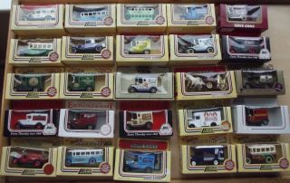 Various Lledo Days Gone Diecast Model Cars and Vans