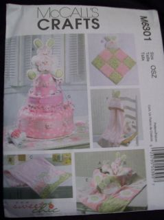 Crafts 6301 Baby Shower Decorations Blanket Diaper Cake Pattern