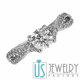 18 G H SI2 Antique Style Round Diamond Engagement Ring 14k Gold