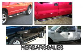 94 01 Dodge RAM Quad Cab Chrome Side Step Nerf Bars Eng Espanol