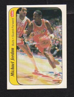 1986 87 Fleer 8 Michael Jordan Rookie Basketball Sticker Card MT Bulls