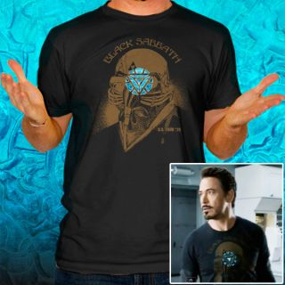Man Tony Stark The Avengers US Tour 78 Arc T Shirt Tee LL10