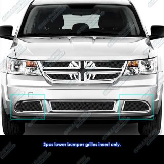 2011 2012 Dodge Journey Fog Light Cover Black Mesh Grille Grill Insert