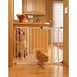 Extra Wide Walk Through Dog Cat Gate Baby Gate