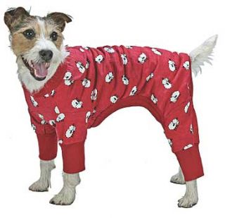 Red Pajamas Dog PJs Puppy Pet Clothes Sleep Pajama New