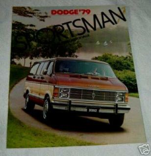 1979 Dodge RAM Trucks Sportsman Wagon Van Brochure