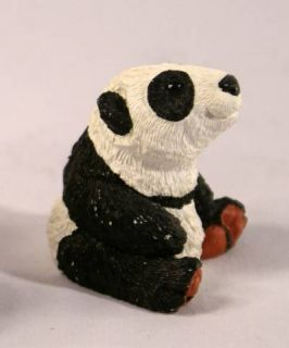 Vintage Signed Don James Panda Bear Figurine 1980s Retired