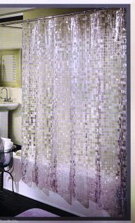 DISCO BALL SHIMMER HEAVY VINYL SHOWER CURTAIN ~ 70 x 72 ~ NEW