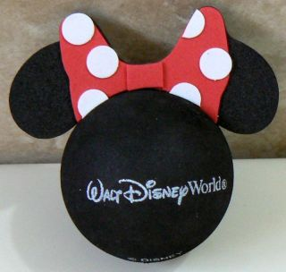 DISNEY MINNIE MOUSE RED POLKA DOT BOW CAR ANTENNA TOPPER BALL NEW o o