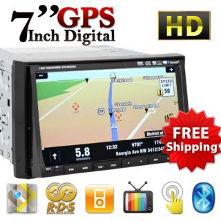 Double DIN Car CD DVD USB Player GPS Navigation DIVX