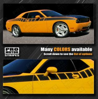 Dodge Challenger Side Strobe Cuda Racing Stripes 2008 2009 2010 Decals