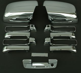 2010 2011 Dodge RAM 5D Chrome Door Mirror Tailgate Handle Cover