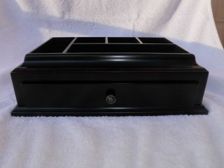 Superb Black Cherry Valet Dresser Jewelry Box Bombay Co