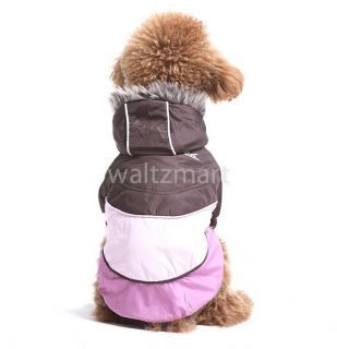 Pet Dog Apparel Winter Cozy Warm Cotton Clothing Hoodie Hooded Coat