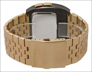 New Diesel Gold Stainless Steel Bracelet Classic Digital Mens Watch