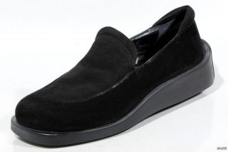 New Donald J Pliner Upper Black Suede Loafers Shoes Italy