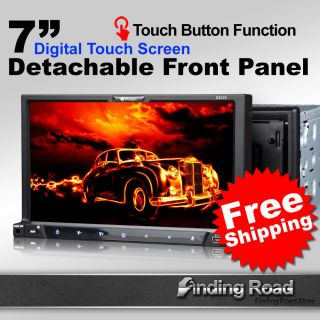 D2223 Milion 7 Double DIN Detachab Car DVD Radio Receiver Stereo