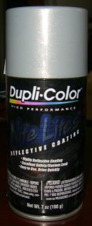 Dupli Color Nite Lites Reflective Paint Silver 7 oz Can Spray Paint