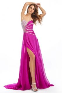 New Custom Chiffon Custom Beaded Pageant Evening Gown Prom Dress
