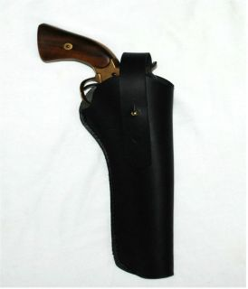 Cross Draw LEATHER PISTOL HOLSTER Western Civil War Cavalry 5 6 Barrel