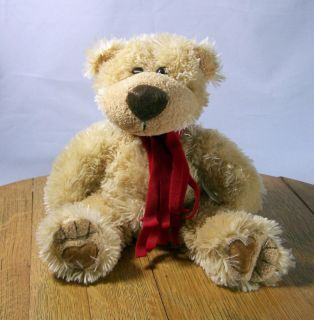 Teddy Bear 12 Plush Brown Dennis Foland Sureshot Scarf Around Neck