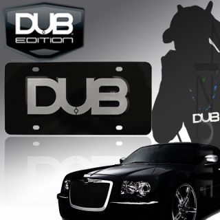 Dub Edition Aluminum Chrome Black 3D Dub License Plate