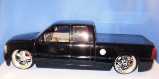 Chevy Silverado 2002 Loose Mint 1 24 Dub City Smoooooth Black