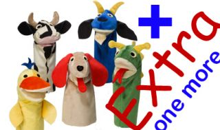 Baby Einstein Puppet Horse Dragon Dog Duck Cow 3MORE