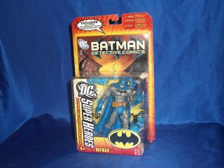 DC Super Heroes Batman Action Figure with Comic Mattel 2006 Blue Grey