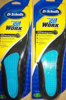 Pairs of Dr Scholls Massaging Gel Work Insoles Mens