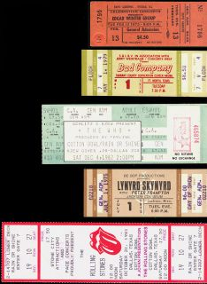 81 FULL Tickets Rolling Stones Edgar Winter Bad Co Who Lynyrd Skynyrd